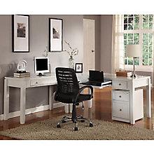 """Boca L-Desk with File - 77""""W, 8804163"""