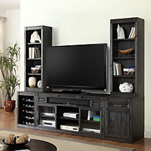 """Hudson Media Wall with Two Bookcase Hutches- 105""""W, 8805009"""