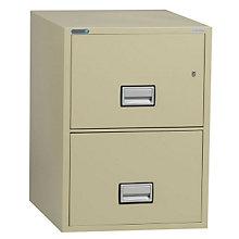 "Fireproof Two Drawer Vertical File - 25""D, PHS-LGL2W25"