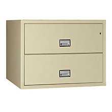 "Fireproof Two Drawer Lateral File - 23.5"" D, PHS-LAT2W38"