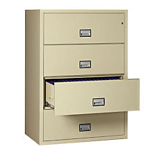 "38.75"" W x 23.5"" D Fireproof Four Drawer Lateral File, PHS-LST4W38"