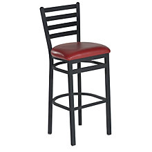 Ladder Back Bar Height Stool, PHX-139BHBK
