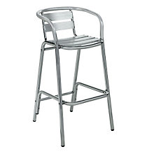 Luna Aluminum Frame Outdoor Stool With Arms, PHX-6504
