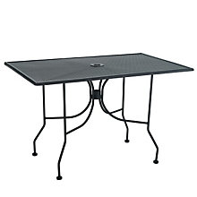 "Metal Outdoor Dining Table - 30"" x 48"", PHX-OF3048MMBK"
