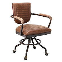 Foster Industrial Office Chair in Leather, 8804853