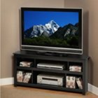 Vasari Black Finish Corner TV Stand, PRP-BCV-4722