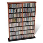 Cherry and Black Double Width Wall Storage Unit, PRP-CMA-0640