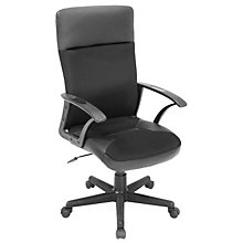 Leather Trimmed High Back Managers Chair, REN-1000