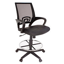 Curve Mesh Back Drafting Stool, REN-2900STBK