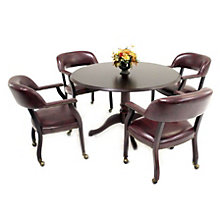 "Traditional Round Conference Table - 42"" Diameter, REN-85042-8001"
