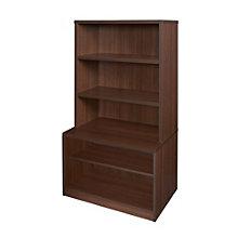 "Sandia 2 Shelf Low Bookcase with Hutch - 55""H, 8801585"