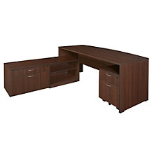 "Sandia Bow Front Hi-Low Fully Reversible L Desk - 71"", 8801589"