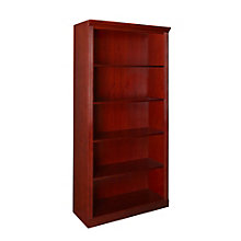 "Prestige Veneer Four Shelf Bookcase - 36""W x 72""H, 8802311"
