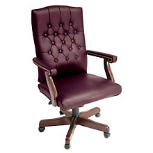 Ivy League Traditional Tufted Vinyl Executive Chair, REN-9040