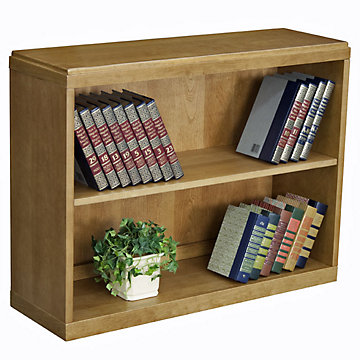 Solid Wood Two Shelf Bookcase, BBC2836CH