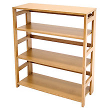 Wood Three-Shelf Folding Bookcase, REN-HBCF3430