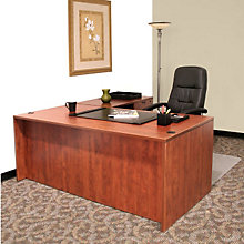 "L-Desk with Two Locking Pedestals - 66""W, 8803043"