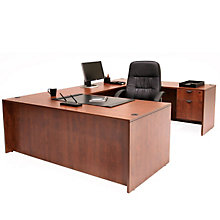 "U-Desk with Two Locking Pedestals - 71""W, REN-L7135UD"