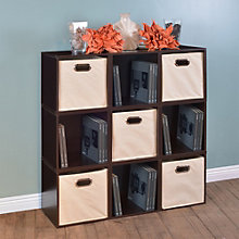 Cubo Set of Nine Stackable Storage Cubes & Five Canvas Bins, 8803505
