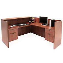 Laminate L Shaped Receptionist Desk, REN-RDRT2BF
