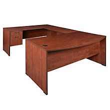 Sandia Bow Front Reversible U-Desk, 8803057