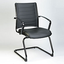 Europa Cantilever Base Guest Chair in Bonded Leather, RMT-11069