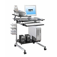 Mobile Computer Cart with Printer Shelf, RTP-2018