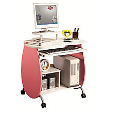 Children's Computer Desk - Pink and White, RTP-Q203