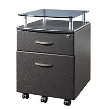 "Glass Top File Cabinet- 14""W, RTP-S06"