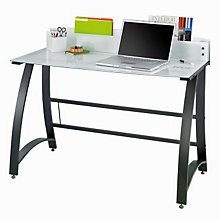 Xpressions Glass Top Laptop Desk, SAF-1938TG