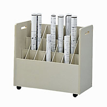 Mobile Roll File - 21 Compartments, SAF-3043