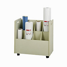 Mobile Roll File - 8 Compartments, SAF-3045