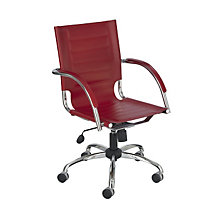 Flaunt Modern Leather Desk Chair, SAF-3456L