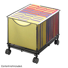 Black Mesh Rolling File Cube, SAF-5211BL