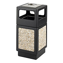 Outdoor Receptacle with Side Openings and Ash Urn, SAF-9473NC
