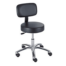 Lab Stool with Back Rest in Vinyl, 8801278