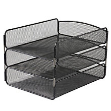 Onyx Steel Mesh Three Tier Letter Tray, 8801484