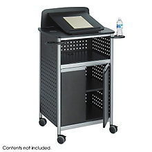 Black Multi-Purpose Lectern, SAF-8922BL