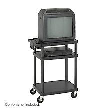 Heavy-Gauge Plastic AV Cart, SAF-8933BL