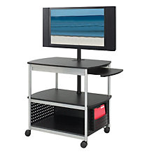 Mobile Multi Media Flat Panel TV Cart, SAF-8940BL