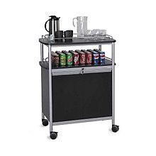 Mobile Beverage Cart with Open Storage Area, SAF-8964BL