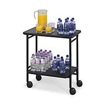 Mobile Folding Beverage/Office Cart, SAF-8965BL