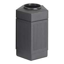 Open Top Pentagonal Waste Receptacle, SAF-9485BL