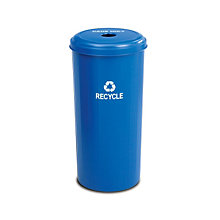 Round 20 Gallon Recycling Container, SAF-9632BU