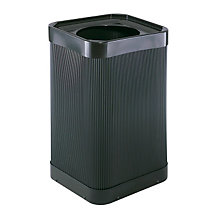 Black Plastic Waste Receptacle - 38 Gallon, SAF-9790BL