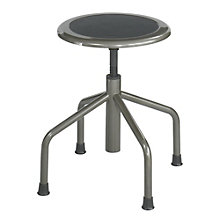 Adjustable Height Stool in Bonded Leather Seat, SAF-10962