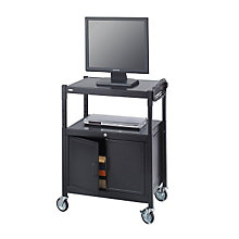 Adjustable Height AV Cart with Cabinet, SAF-8943