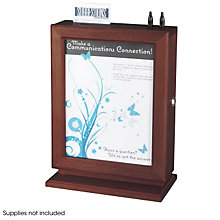 Customizable Lockable Wood Suggestion Box, SAF-4236