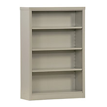 "Snap It Four Shelf Steel Bookcase - 52""H , 8802328"