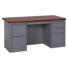"900 Series Steel Double Pedestal Computer Desk - 60""W, 8802332"